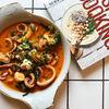 Фото к позиции меню Кальмары, креветки и овощи маринара