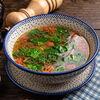 Фото к позиции меню Суп из белых грибов со шпинатом