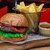 Фото к позиции меню Бургер с голубым сыром