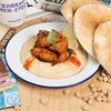 Фото к позиции меню Хумус с куриными стрипсами кимчи