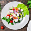 Фото к позиции меню Салат Греческий с оливками и сыром фета