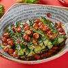 Фото к позиции меню Острые огурцы в китайском стиле с арахисом