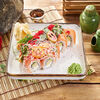 Фото к позиции меню Ролл Филадельфия с салатом