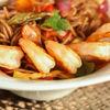Фото к позиции меню Лапша с овощами и креветками