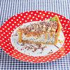 Фото к позиции меню Маковый чизкейк с соленой карамелью, печеньем и молочным шоколадом
