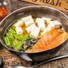 Фото к позиции меню Суп Мисо с лососем