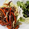 Фото к позиции меню Салат с печёной говядиной