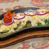 Фото к позиции меню Язык телячий под грибным соусом и картофелем