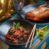 Фото к позиции меню Лапша Чоу Фань с уткой и грибами Шиитаке