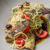 Фото к позиции меню Филе сибаса со спагетти из кабачков