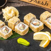 Фото к позиции меню Ролл Острый с лососем