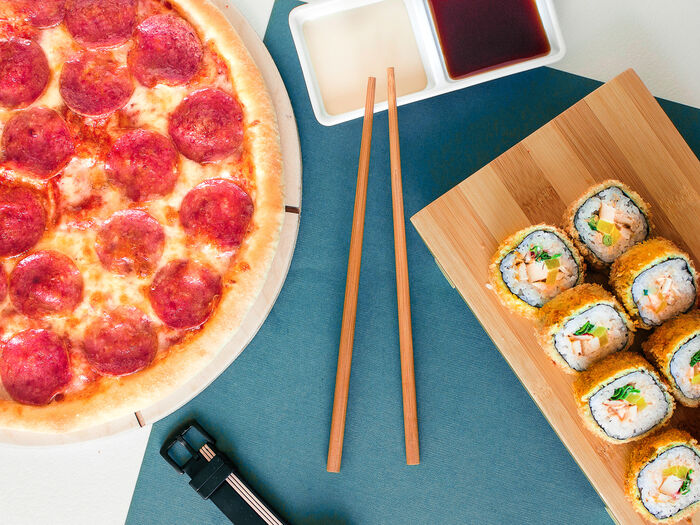 Суши пицца бургер