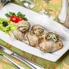 Фото к позиции меню Рулетики из баклажанов с овощами