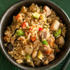 Фото к позиции меню Рис жаренный с курицей и овощами