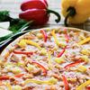 Фото к позиции меню Пицца Гавайская с ветчиной