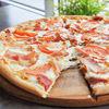 Фото к позиции меню Пицца С беконом и помидорами