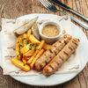 Фото к позиции меню Колбаски из курицы