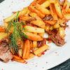 Фото к позиции меню Жареный картофель с домашней тушенкой