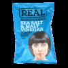 Фото к позиции меню Чипсы картофельные со вкусом и ароматом морской соли и солодового уксуса, Real handcooked