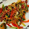 Фото к позиции меню Рыбный микс с овощами и картофельным пюре