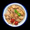 Фото к позиции меню Свинина в кисло-сладком соусе по-китайски