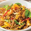 Фото к позиции меню Гречневая лапша соба по-азиатски с цыпленком и овощами