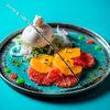 Фото к позиции меню Буррата с тайским апельсином и фенхелем