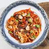 Фото к позиции меню Лингвини с осьминогом и креветками