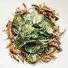 Фото к позиции меню Теплый салат из вешенок и шпината