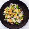 Фото к позиции меню Карпаччо из белых грибов с морским гребешком