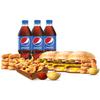 Фото к позиции меню Комбо на троих с Двойным Чизбургером