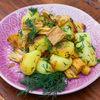 Фото к позиции меню Жареный картофель со спаржей