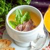 Фото к позиции меню Тыквенный крем-суп с обжаренным беконом