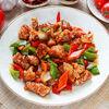 Фото к позиции меню Свинина с овощами в соевом соусе