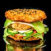 Фото к позиции меню Суши-бургер Атлантический