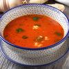 Фото к позиции меню Томатный суп с розовой креветкой