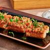 Фото к позиции меню Брускетта с подкопченным лососем