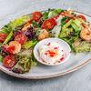 Фото к позиции меню Фирменный салат с креветками