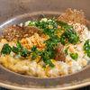 Фото к позиции меню Ризотто с белыми грибами, трюфельным маслом и хрустящим луком