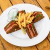 Фото к позиции меню Клаб-сэндвич с форелью