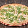 Фото к позиции меню Пицца  Цезарь с тигровыми креветками