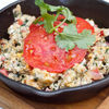 Фото к позиции меню Тквила чахохбили - яичница с помидорами