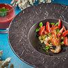 Фото к позиции меню Гаспачо с клубникой и креветками