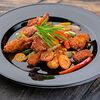 Фото к позиции меню Кисло-сладкая курица с овощами