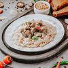 Фото к позиции меню Соте из индейки с макаронами
