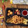 Фото к позиции меню Детский обед с куриными стрипсами