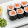 Фото к позиции меню Мини-ролл с копченым лососем