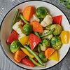 Фото к позиции меню Овощи на пару с песто