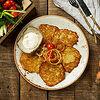 Фото к позиции меню Деруны из картофеля со сметаной (с 14:00)