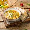 Фото к позиции меню Куриный суп с лапшой